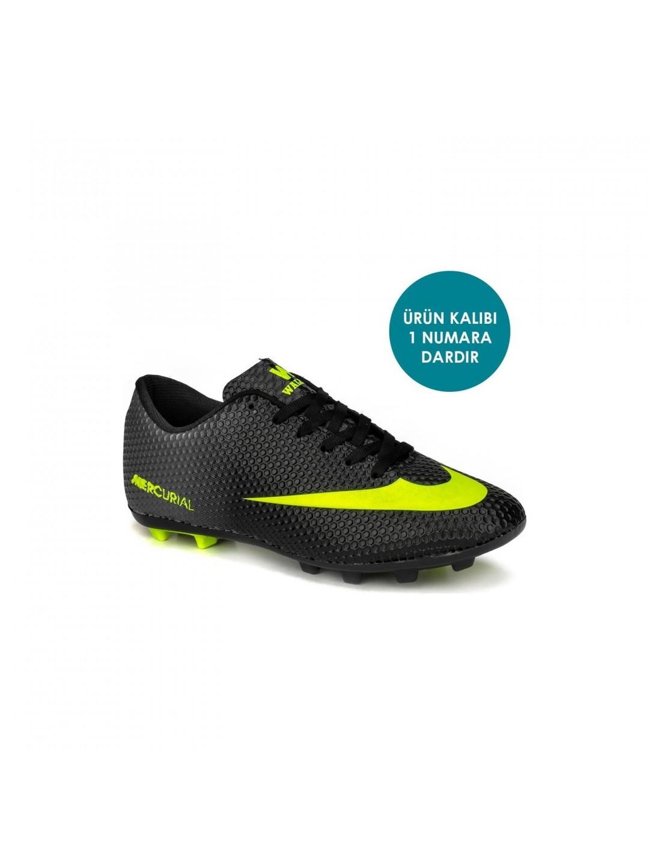 Walked Siyah Sarı Erkek  Krampon Spor Ayakkabı