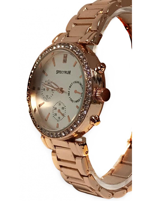 Mugees Rose  Metal Kordonlu  Kadın Kol Saati MG035